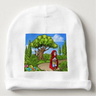 Little Red Riding Hood Cartoon Scene Baby Beanie