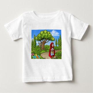 Little Red Riding Hood Cartoon Scene Baby T-Shirt