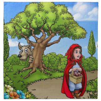 Little Red Riding Hood Cartoon Scene Napkin
