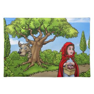 Little Red Riding Hood Cartoon Scene Placemat