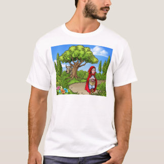 Little Red Riding Hood Cartoon Scene T-Shirt