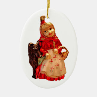 Little Red Riding Hood Ceramic Oval Ornament
