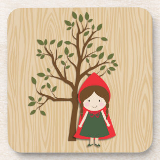 Little Red Riding Hood Drink Coasters