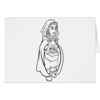 Little Red Riding Hood Fairy Tale Cartoon Card