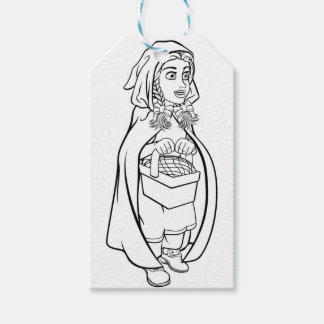 Little Red Riding Hood Fairy Tale Cartoon Gift Tags
