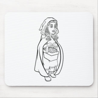 Little Red Riding Hood Fairy Tale Cartoon Mouse Pad