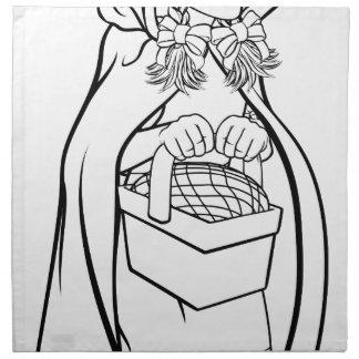 Little Red Riding Hood Fairy Tale Cartoon Napkin