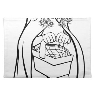 Little Red Riding Hood Fairy Tale Cartoon Placemat