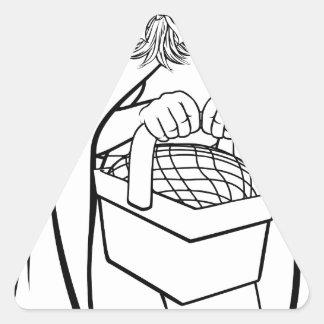 Little Red Riding Hood Fairy Tale Cartoon Triangle Sticker