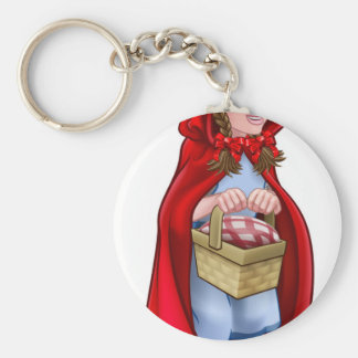 Little Red Riding Hood Fairy Tale Character Keychain