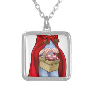 Little Red Riding Hood Fairy Tale Character Silver Plated Necklace
