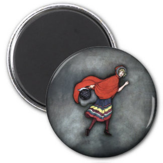 Little Red Riding Hood ~Fairy Tale~Jennie Harbour~ 2 Inch Round Magnet