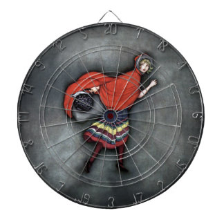 Little Red Riding Hood ~Fairy Tale~Jennie Harbour~ Dartboard With Darts