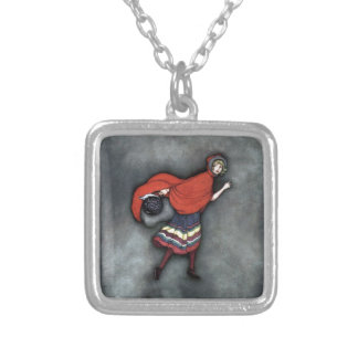Little Red Riding Hood ~Fairy Tale~Jennie Harbour~ Silver Plated Necklace