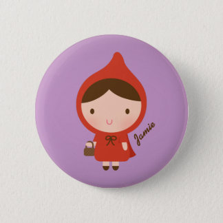 Little Red Riding Hood Fairytale for Girls 2 Inch Round Button