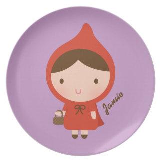Little Red Riding Hood Fairytale for Girls Dinner Plates