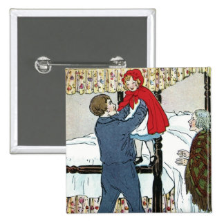Little Red Riding Hood: Little Red Safe 2 Inch Square Button