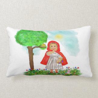 little red riding hood lumbar pillow