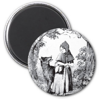little-red-riding-hood-pictures-3 2 inch round magnet