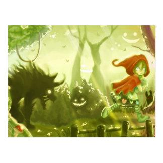 Little Red Riding Hood postcard 02