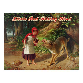 Little Red Riding Hood & the Big Bad Wolf Postcard