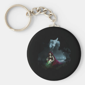 Little Red Riding Hood & the Magic Mushrooms Basic Round Button Keychain
