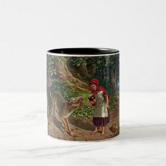 Little red riding hood Two-Tone coffee mug