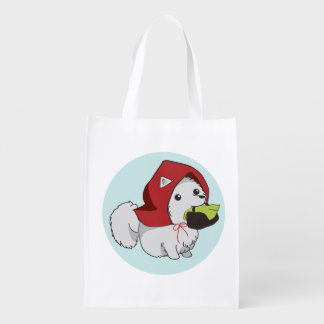 Little Red Riding Pup Reusable Grocery Bag