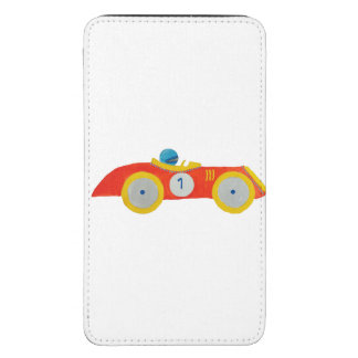 Little Red Roadster Racing Car Child 1st Birthday Galaxy S5 Pouch