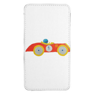Little Red Roadster Racing Car Child 1st Birthday Galaxy S4 Pouch