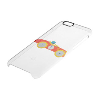 Little Red Roadster Racing Car Child 1st Birthday Clear iPhone 6/6S Case
