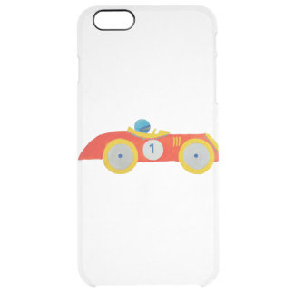 Little Red Roadster Racing Car Child 1st Birthday Clear iPhone 6 Plus Case