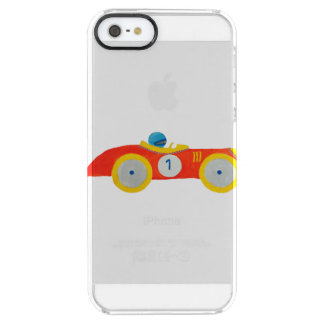 Little Red Roadster Racing Car Child 1st Birthday Clear iPhone SE/5/5s Case