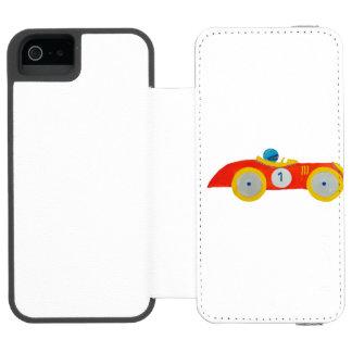 Little Red Roadster Racing Car Child 1st Birthday Incipio Watson™ iPhone 5 Wallet Case