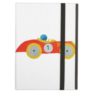 Little Red Roadster Racing Car Child 1st Birthday iPad Air Case