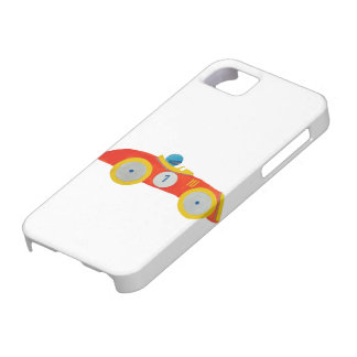 Little Red Roadster Racing Car Child 1st Birthday iPhone 5 Cases