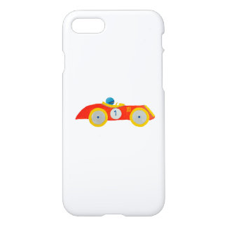 Little Red Roadster Racing Car Child 1st Birthday iPhone 7 Case