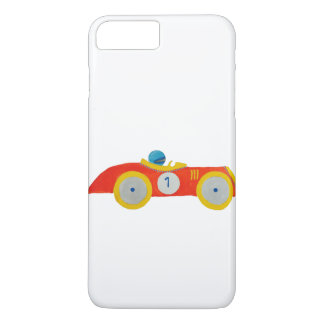 Little Red Roadster Racing Car Child 1st Birthday iPhone 7 Plus Case