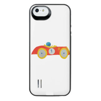 Little Red Roadster Racing Car Child 1st Birthday iPhone SE/5/5s Battery Case