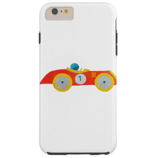 Little Red Roadster Racing Car Child 1st Birthday Tough iPhone 6 Plus Case