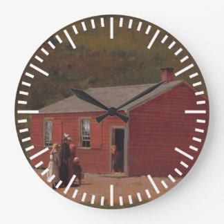 Little Red School Cabbin by Winslow Homer Large Clock