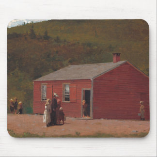 Little Red School Cabbin by Winslow Homer Mouse Pad