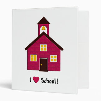 Little Red School House I Love School 3 Ring Binder