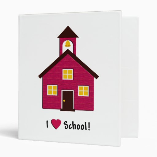 Little Red School House I Love School 3 Ring Binder