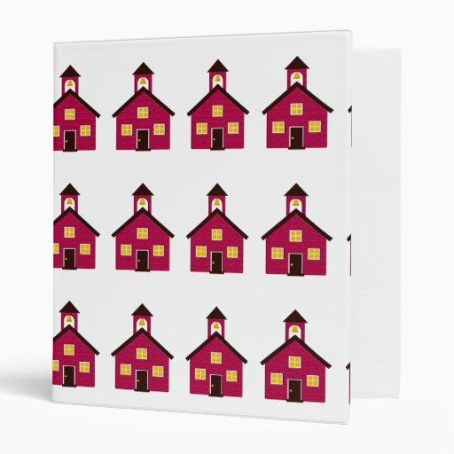 Little Red Schoolhouse Binders