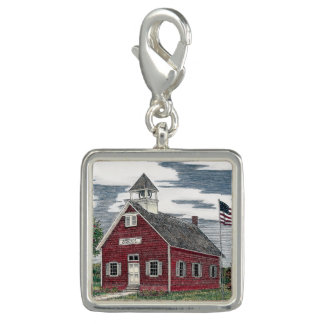 Little Red Schoolhouse Charm