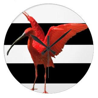 little red stork clock