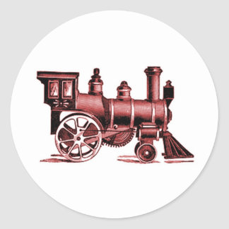 Little Red Train Classic Round Sticker