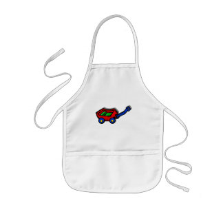 little red wagon kids apron