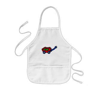 little red wagon kids apron
